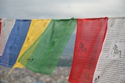 Tibetan Buddhist prayer flags, via Tiago Pereira, Flickr