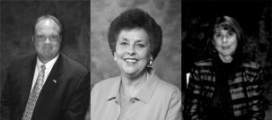 Buddy Collins, Jane Goins, Jeannie Metcalf (l-r)