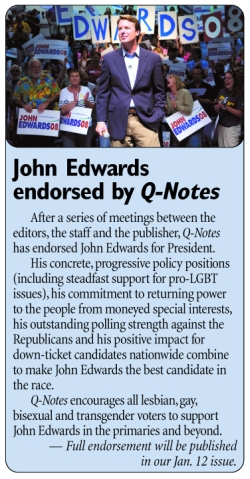 Edwards Endorsed by Q-Notes