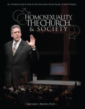 The cover to a 6-disc DVD set of an anti-gay lecture series delivered by Dr. Michael L. Brown in February 2007.