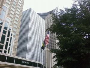 From my hotel in downtown Pittsburgh